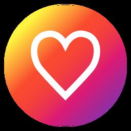 Botón del corazón de Instagram