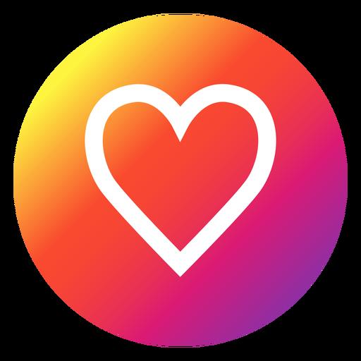 Botão do coração Instagram Transparent PNG