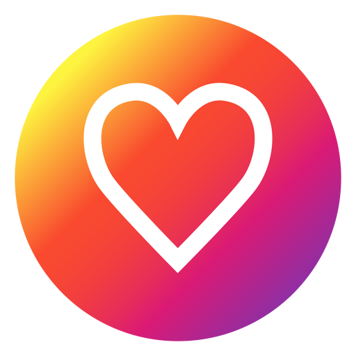 Instagram heart button Transparent PNG