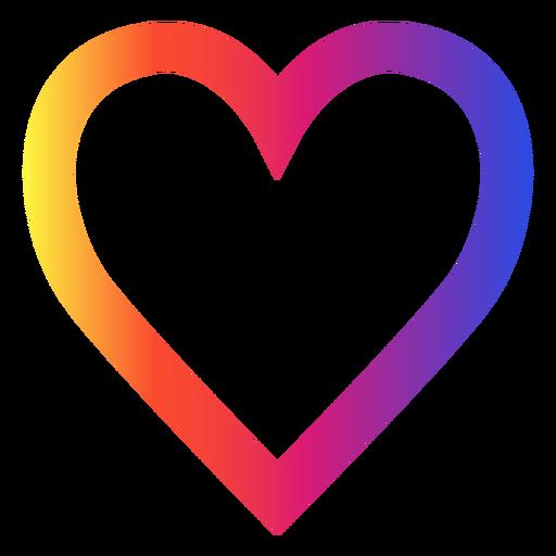 Ícone do coração Instagram Transparent PNG