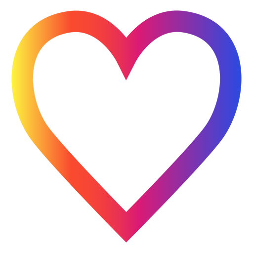 Instagram heart icon Transparent PNG
