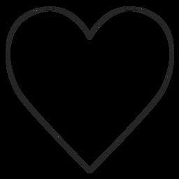 Icono de línea de corazón de Instagram