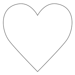 Instagram heart line icon