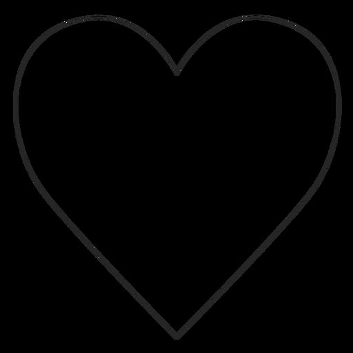 Ícone de linha de coração do Instagram Transparent PNG