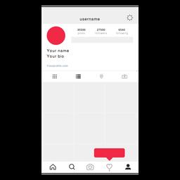 Instagram minha tela de perfil