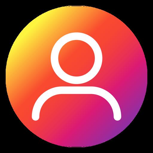 Instagram profile button Transparent PNG