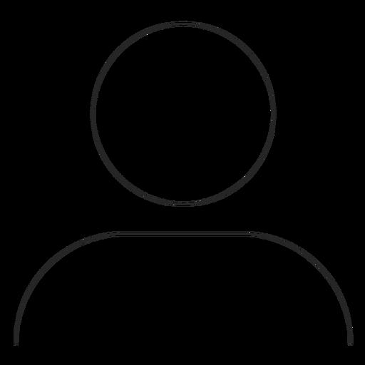 Instagram profile line icon