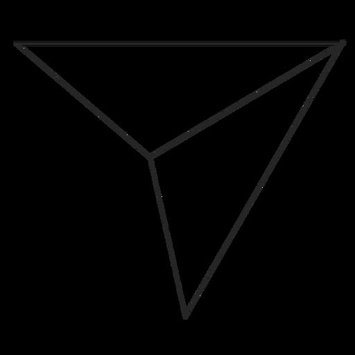 Icono de línea de envío de Instagram Transparent PNG