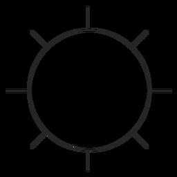 Icono de línea de configuración de Instagram