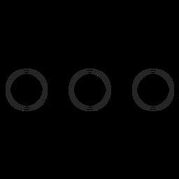 Icono de la línea de tres puntos de Instagram