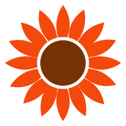 Isolated sunflower head logo