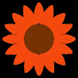 Logotipo de cabeça de girassol isolado