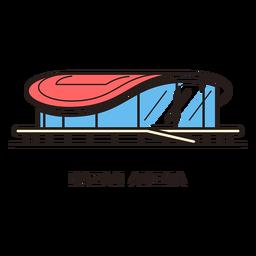 Logotipo de estadio de fútbol de arena de Kazan