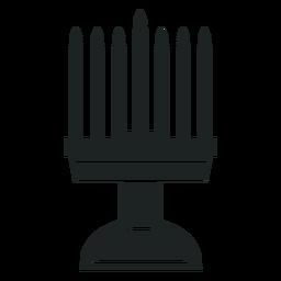 Kwanzaa candelero gris icono