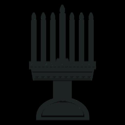 Kwanzaa Leuchter graues Symbol Transparent PNG