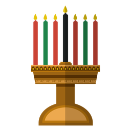 Ícone de castiçal Kwanzaa
