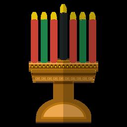 Icono de candelero Kwanzaa