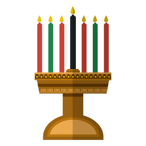 Kwanzaa candlestick icon Transparent PNG