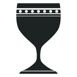 Kwanzaa chalice grey icon