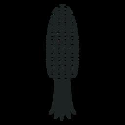 Kwanzaa milho cinza ícone