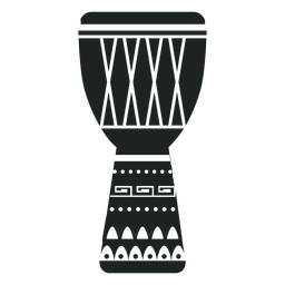 Kwanzaa djembe grey icon