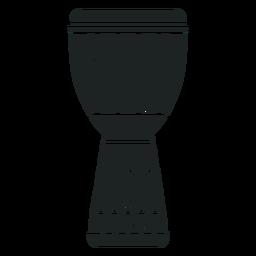 Kwanzaa djembe icono gris