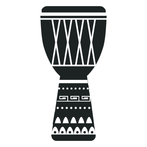Kwanzaa djembe grey icon Transparent PNG