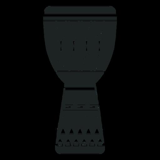 Kwanzaa djembe grey icon