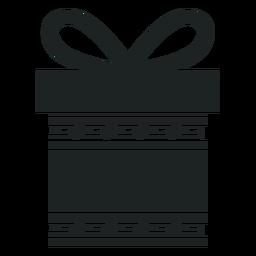 Kwanzaa caixa de presente cinza ícone