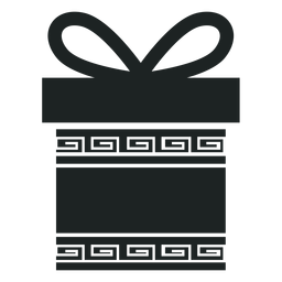 Kwanzaa gift box grey icon
