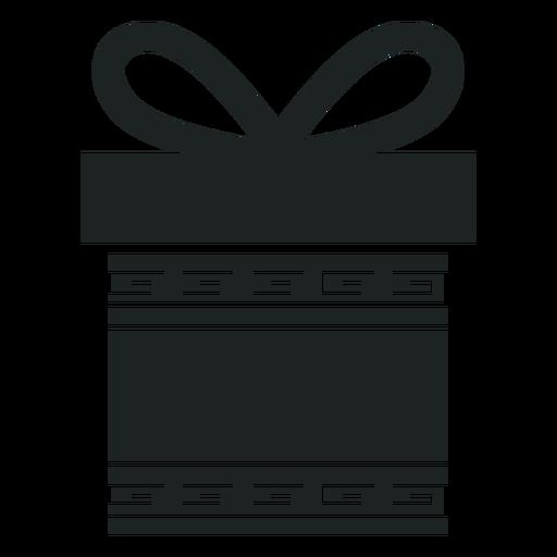 Kwanzaa gift box grey icon Transparent PNG