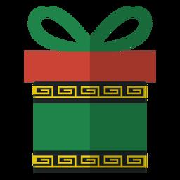 Icono de caja de regalo de Kwanzaa