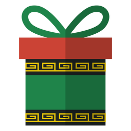 Kwanzaa gift box icon