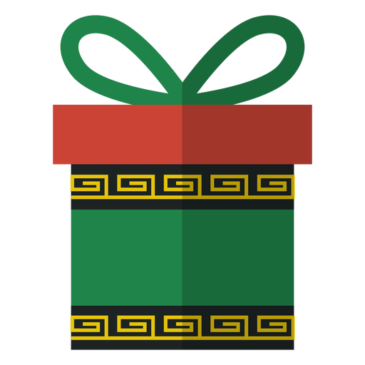 Kwanzaa gift box icon Transparent PNG