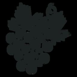 Kwanzaa ícone cinza cacho de uva