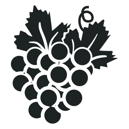 Kwanzaa grape bunch grey icon Transparent PNG