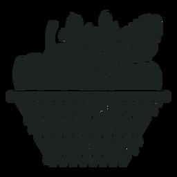 Kwanzaa ícone de cesta cinza de colheita
