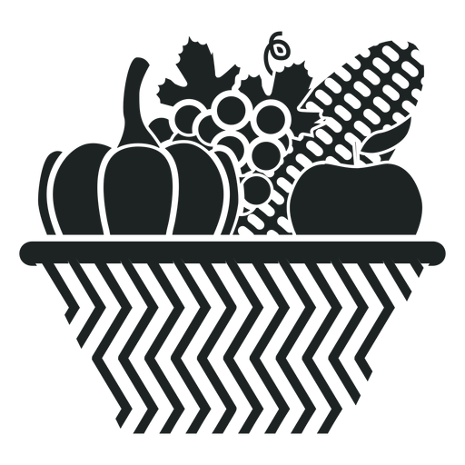 Kwanzaa harvest basket grey icon Transparent PNG