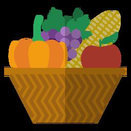 Icono de canasta de cosecha de Kwanzaa