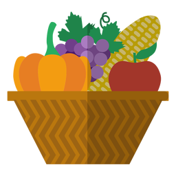 Kwanzaa harvest basket icon