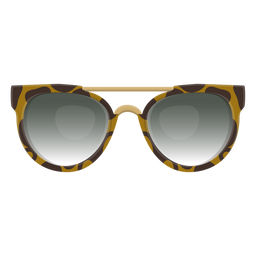 Óculos de sol Leopard Clubmaster