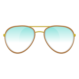 Óculos de sol aviador azul claro