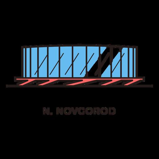 Logo del estadio de futbol novgorod Transparent PNG