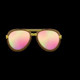 Óculos de sol rosa aviador