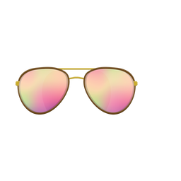 Gafas de sol rosa aviador