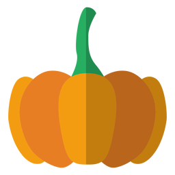 Pumpkin icon flat