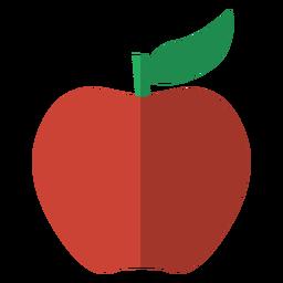 Icono de manzana roja de fruta