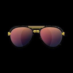 Óculos de sol aviador vermelho