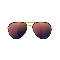 Rote Sonnenbrille für Flieger