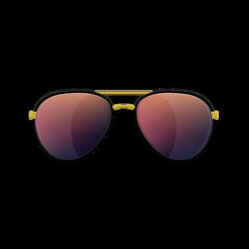 Red aviator sunglasses Transparent PNG